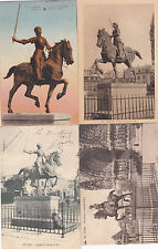 Lot 4 cartes postales anciennes REIMS statue jeanne d'arc 2