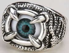 Eyeball stretch ring halloween gothic jewelry gifts for women girls RD25 silver