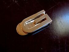 RARE! Authentic GUCCI G Gold Toned Stainless Steel Money Clip Wallet Cash Holder