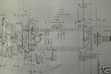 ROLLS ROYCE MERLIN AERO ENGINE PLAN BLUEPRINTS RARE DETAIL PERIOD DRAWINGS WW2