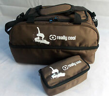 Really Cool Brown Ski and Snowboard boot bag luggage + free Ski Goggle Case!!