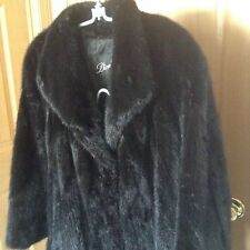 Dion Furs of Chicago Full Length Black/Brown Saga seal Mink Coat ~ Size Med 50""
