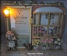 Light Ideas Picture Frame FLOWER SHOP Shabby Victorian Chic Lights Up