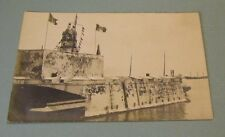 WWI Era Naval Armored Position Mexican Eagle Flag RPPC Real Photo Postcard