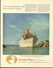 1950s Cruise Ship AD, Canadian Pacific, Ship White Empress art Stan Galli 061914