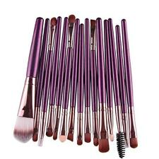 15 pcs/Set Eye Shadow Foundation Eyebrow Lip Brush Makeup Brushes Tool Purple B