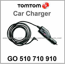 GENUINE TOMTOM GO 510 710 910 GPS CAR CHARGER LEAD 12v/24v CABLE ROUND PIN (N)