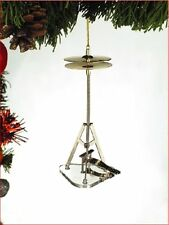 "Realistic HIGH HAT Drums Christmas Ornament, 5"" Tall, by Broadway Gifts"
