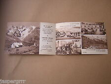c1930. SMALL HOTEL ADVERTISING 4 PAGE CARD. FRENCH ALPS. MOUNTAIN HOLIDAYS etc.