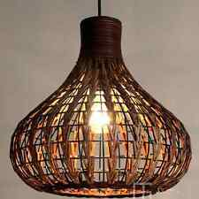 DIY NEW Tropical Bamboo Chandelier Wicker Rattan Lamp Shades Weave Hanging Light