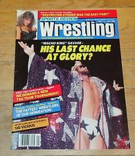 1990 Sports Review Wrestling Magazine Randy Savage Woman Sid Vicious WWF WWE NWA