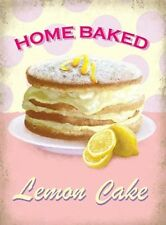 HOME BAKED LEMON CAKE - BAKING CUPCAKE KITCHEN BAKE OFF METAL PLAQUE TIN SIGN 10