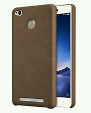 PREMIMUM BOB SERIES PU LEATHER BACK COVER FOR  REDMI 3S PRIME (BROWN)