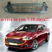 1Pcs Chrome Front Bumper Upper Radiator Grille For Ford Fusion 2013-2016