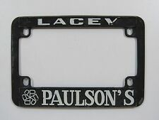 Lacey Paulson's Motorcycle License Plate Frame Metal Tag Holder Embossed Old WA