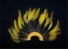 1 BRIGHT YELLOW 1/2 CIRCLE PINWHEEL BEADED FEATHERS