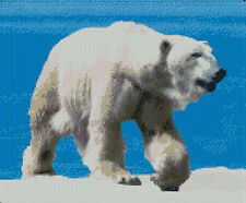 "Polar Bear 2 Complete Counted Cross Stitch Kit 12"" x 9.9"" 30.6cm x 25cm"