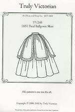 Schnittmuster Truly Victorian TV 246: 1851 Petal Ballgown Skirt