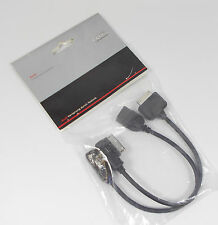 NEW GENUINE AUDI MUSIC INTERFACE IPOD IPHONE USB AMI MEDIA ADAPTER CABLE SET
