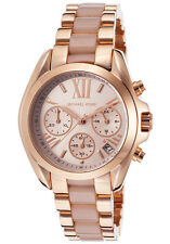 **NEW* LADIES MICHAEL KORS  ROSE GOLD MINI BRADSHAW WATCH MK6066 -RRP £233