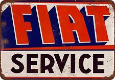 Fiat Service Vintage Look Reproduction Metal Sign