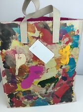 Donald Robertson X Kara Ross Limited Edition Tote Bag New $395 Hand Painted