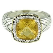 Andrea Candela 18kt & Sterling Silver Diamond Citrine Cable Ring ACR103/13-CI