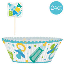 Baby Shower Blue Cupcake Kit (24 Count) - Party Supplies