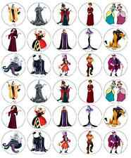 Disney Princess Villians Cupcake Toppers Edible Wafer Paper BUY 2 GET 3RD FREE