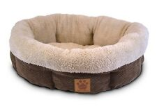 Pet Bed for dogs and cats - Ultra Soft Shearling Cup Round Bed Coffee 21""