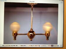 Dollhouse Miniature Lighting - BATTERY OPERATED - Victorian Double Globe Hanging