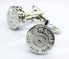 3D Bullet Back Cufflinks Police Cuff Links Gun Haunting Gemelos 100 for 7 item