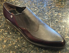 CESARE PACIOTTI US 10 STYLISH BROWN LEATHER LOAFERS ITALIAN DESIGNER MENS SHOES