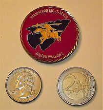 """Challenge Coin - USN, VFA-87 """"Golden Warriors"""", Excellence Attained Through The"""