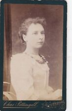 ANTIQUE CDV PHOTO -LADY. LIVERPOOL STUDIO