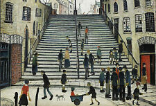 LS Lowry Framed Print – Steps at Wick (Picture Painting English Artist Artwork)
