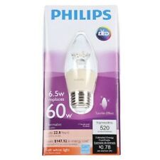 Philips 60W (6.5W) Soft White B13 Blunt Tip LED Dimmable Candle Light Bulb