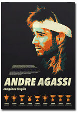 "Andre Agassi Greatest Tennis Player Fridge Magnet Size 2.5""x 3.5"""