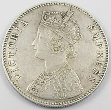 INDIA - QUEEN VICTORIA ONE RUPEE SILVER COIN  dated 1885