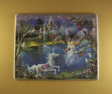 Dream Castles CREATE Plate #5 Mimi Jobe Fairies Fairy Unicorn MIB + COA Castle
