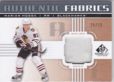 2011 11-12 SP Game Used Authentic Fabrics Patches #AFMH Marian Hossa 25/35