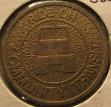 1978 Ride-On Community Transit Rockville, MD Bus Token - Maryland