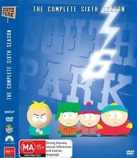South Park Complete Sixth Season 6. 3 discSet Cartman Kyle Stan Kenny Region 4.