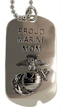 "US Marines  Dog Tag / Key Chain ""PROUD MARINE MOM"" Last 3, Discontinued Item"