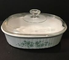 Corning Ware Corelle Callaway Ivy F-2-B Oval 2.8 Liter Casserole Dish With Lid