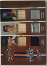 Nolan Ryan Tom Seaver Dwight Gooden New York Mets Team Trios Jersey Bat #049/100