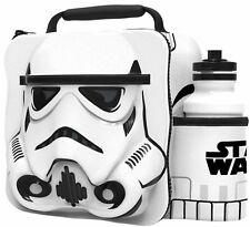 Official Star Wars Thermal 3D Storm Trooper Lunch Bag Box & Drink Bottle Set