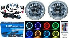 "5-3/4"" RGB SMD Multi-Color White Red Blue Green LED Halo 6000K HID H4 Headlights"