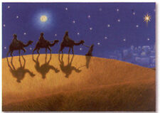"""Three Wisemen Silhouette"" Discounted Christmas Boxed Greeting Cards 7385"