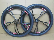 "26"" Mountain MTB Bike Magnesium Alloy Wheel Set Tyres 7 Speed Shimano Freewheel"